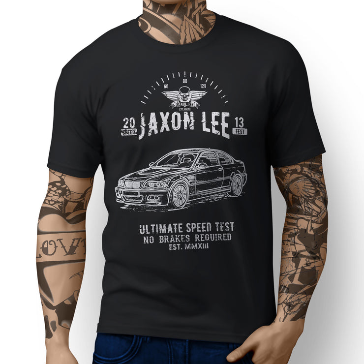JL Speed Illustration For A BMW E46 M3 Coupe Motorbike Fan T-shirt