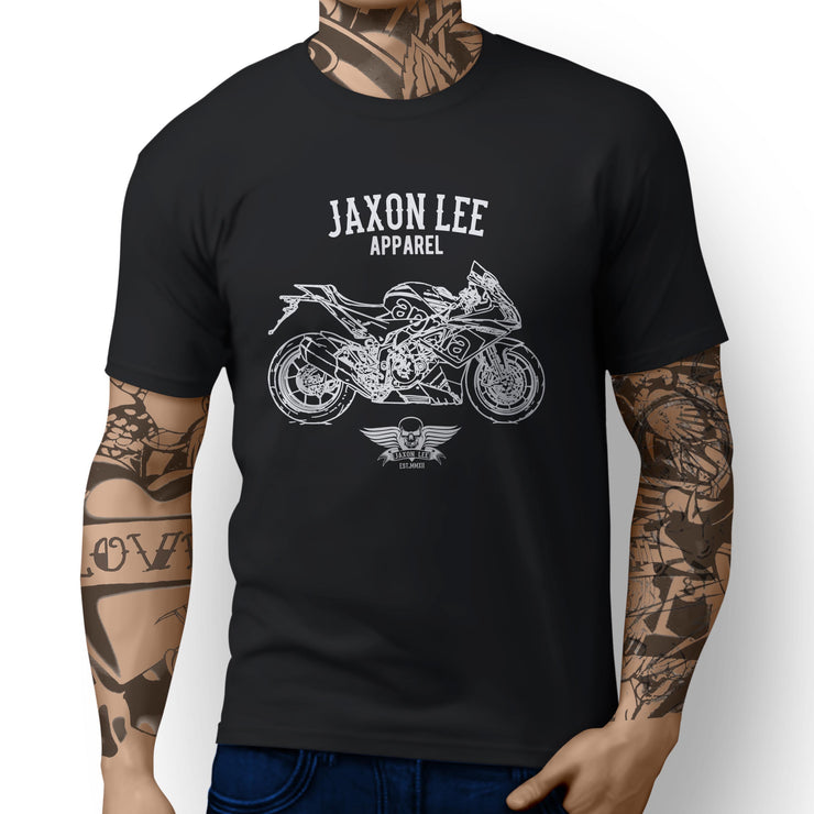 Jaxon Lee Illustration for a Aprilia RSV4 RF 2016 Motorbike fan T-shirt
