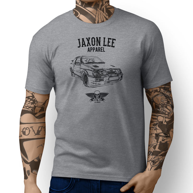 Jaxon Lee Illustration For A Ford Sierra Cosworth RS500 Motorcar Fan T-shirt