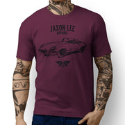 Jaxon Lee Illustration For A Jaguar E-Type Convertible Motorcar Fan T-shirt