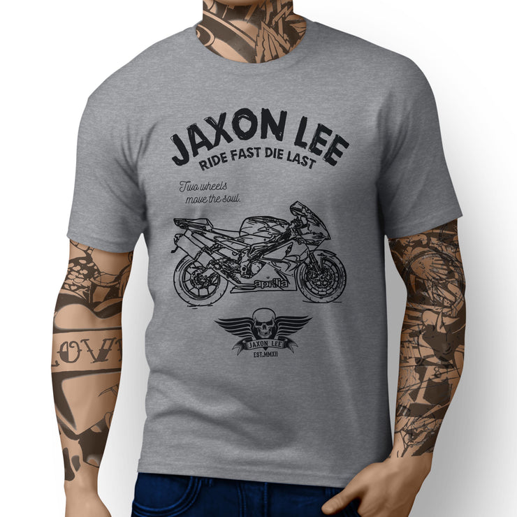 JL Ride Aprilia RSV1000R inspired Motorbike Art T-shirts - Jaxon lee