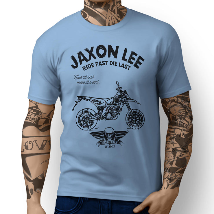 JL Ride Aprilia SXV450 inspired Motorbike Art T-shirts - Jaxon lee