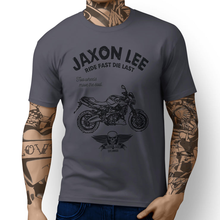 JL Ride Aprilia Shiver 750 inspired Motorbike Art T-shirts - Jaxon lee
