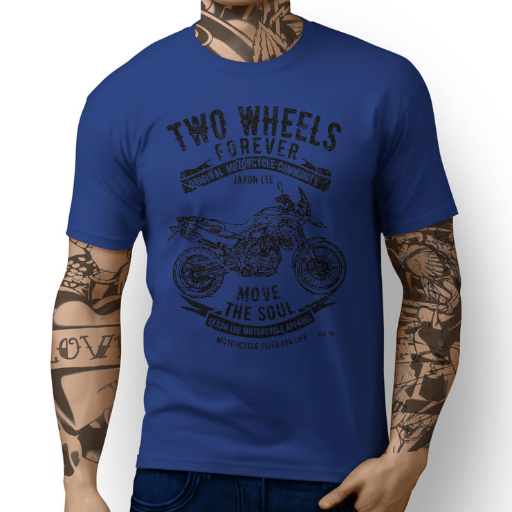 JL Soul Illustration For A BMW F800GS Motorbike Fan T-shirt - Jaxon lee