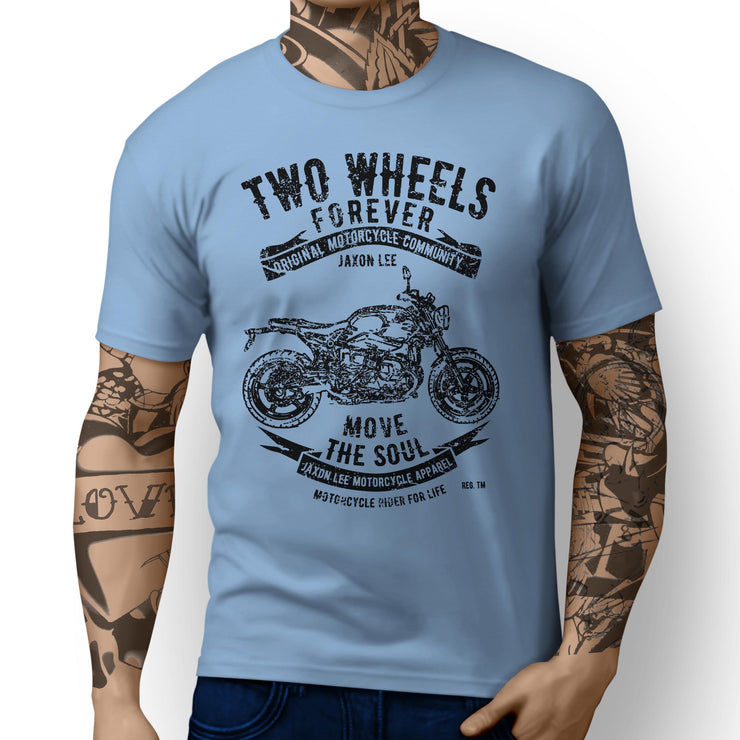 JL Soul Illustration For A BMW RnineT Pure 2017 Motorbike Fan T-shirt - Jaxon lee
