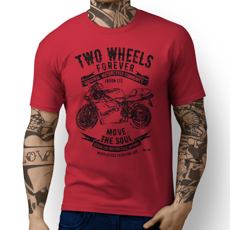 JL Soul Illustration For A Ducati 748 Motorbike Fan T-shirt - Jaxon lee