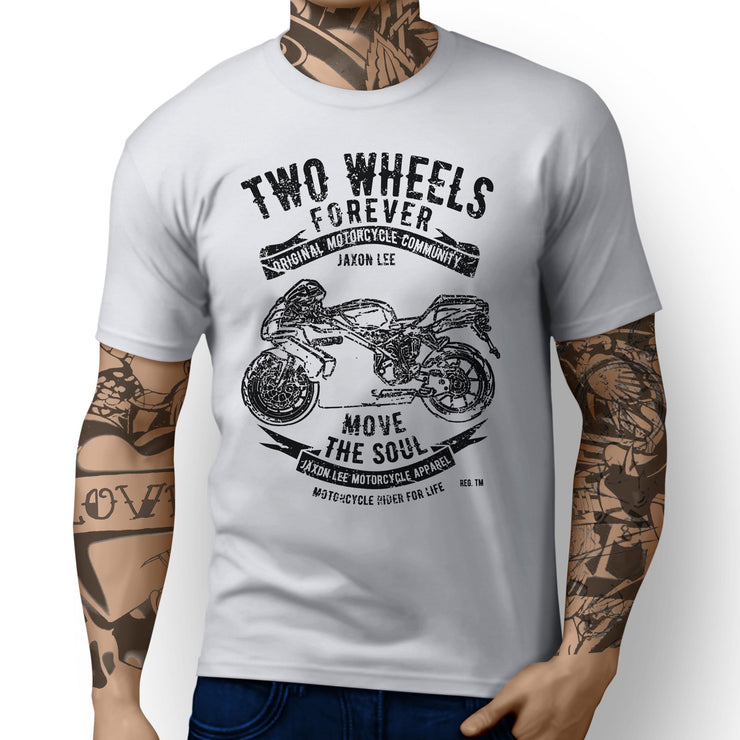 JL Soul Illustration For A Ducati 749 Motorbike Fan T-shirt - Jaxon lee