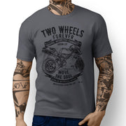 JL Soul Illustration For A Ducati 996R Motorbike Fan T-shirt - Jaxon lee