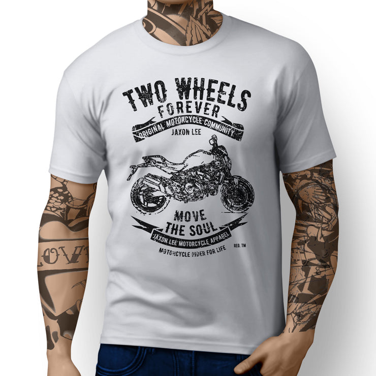 JL Soul Illustration For A Ducati Monster 821 STRIPE Motorbike Fan T-shirt - Jaxon lee