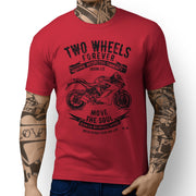 JL Soul Illustration For A Ducati SuperSport Motorbike Fan T-shirt - Jaxon lee