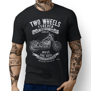 JL Soul Art Tee aimed at fans of Harley Davidson Low Rider S Motorbike - Jaxon lee