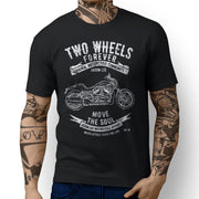 JL Soul Art Tee aimed at fans of Harley Davidson Night Rod Special Motorbike - Jaxon lee