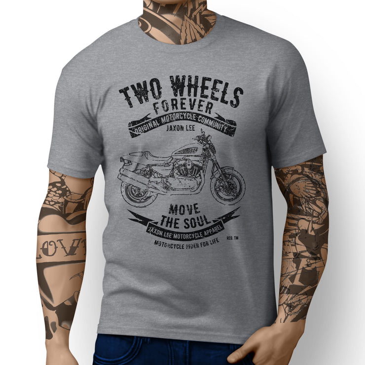 JL Soul Art Tee aimed at fans of Harley Davidson XR1200 2011 Motorbike - Jaxon lee