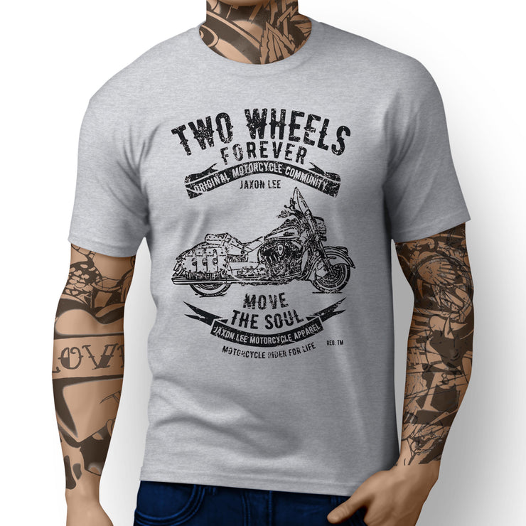 JL Soul Illustration For A Indian Chief Vintage Motorbike Fan T-shirt - Jaxon lee