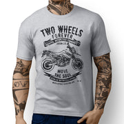 JL Soul illustration for a KTM 950 Supermoto R Motorbike fan T-shirt
