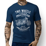 JL Soul Illustration For A Kawasaki W800 Motorbike Fan T-shirt