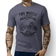 JL Soul Illustration For A Moto Guzzi Audace Motorbike Fan T-shirt