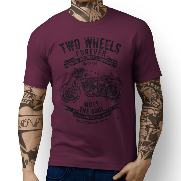 JL Soul Illustration For A Royal Enfield Continental GT Motorbike Fan T-shirt