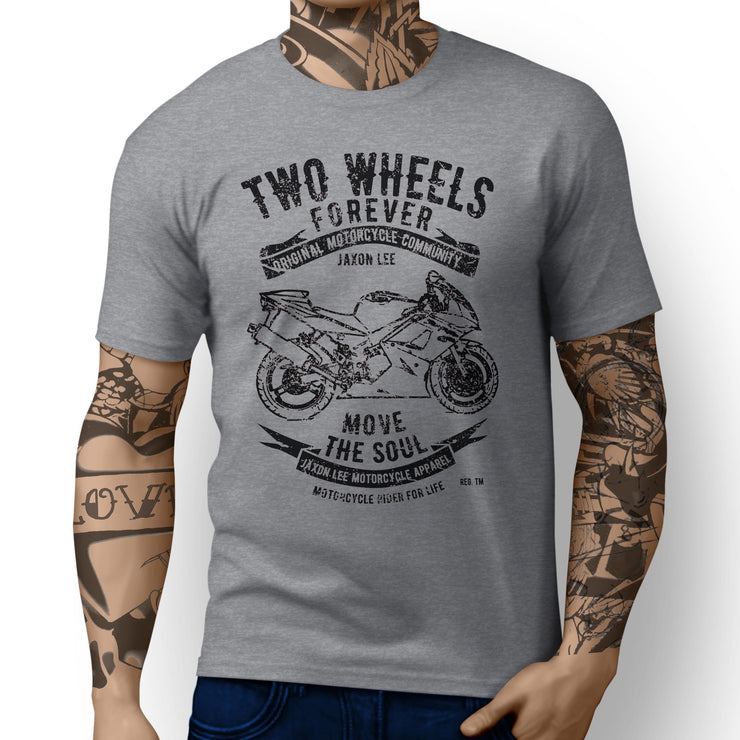 JL Soul Art Tee aimed at fans of Triumph Daytona 650 Motorbike - Jaxon lee
