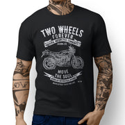 JL Soul Illustration For A Yamaha RD 350 LC Motorbike Fan T-shirt