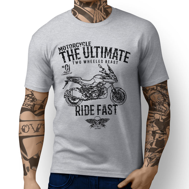 JL Ultimate Illustration for a Aprilia Caponord 1200 Motorbike fan T-shirt