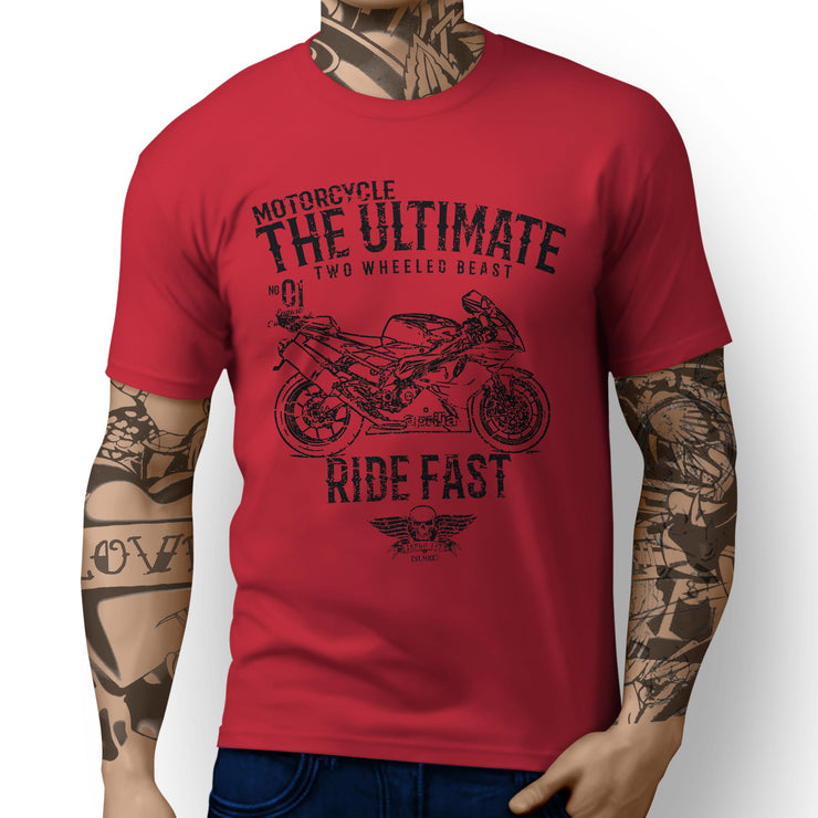 JL Ultimate Illustration for a Aprilia RSV1000R Factory Motorbike fan T-shirt