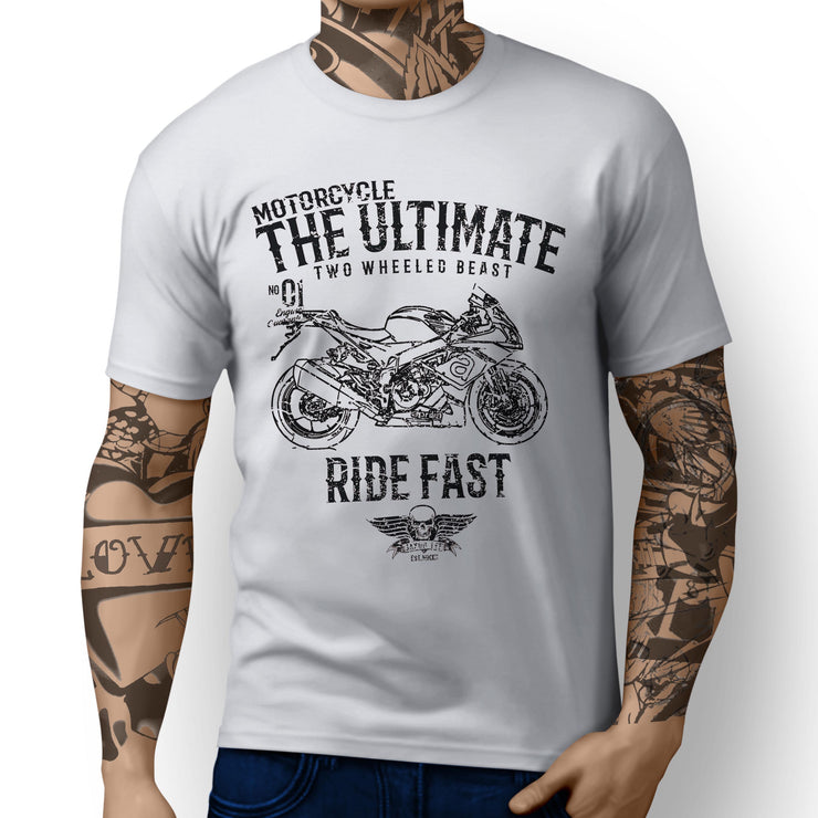 JL Ultimate Illustration for a Aprilia RSV4 RR 2017 Motorbike fan T-shirt