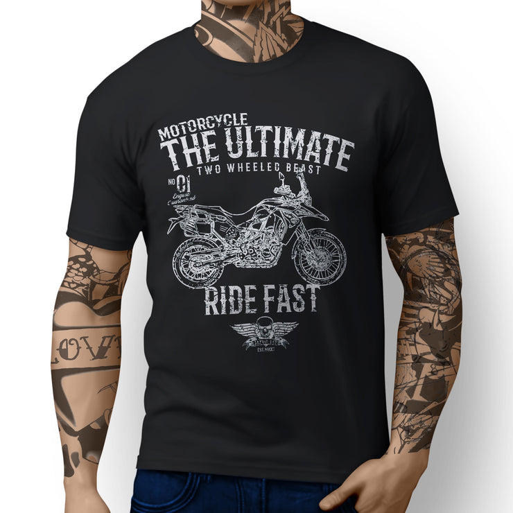 JL Ultimate Illustration For A BMW F800GS Adventure Motorbike Fan T-shirt