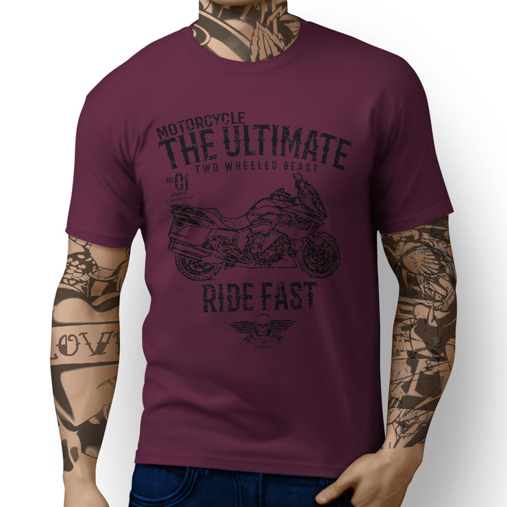 JL Ultimate Illustration For A BMW K1600GT Motorbike Fan T-shirt