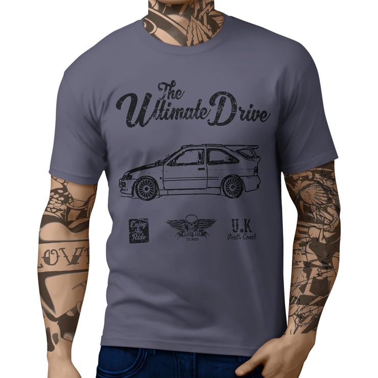 JL Ultimate Illustration For A Ford Escort Cosworth Motorcar Fan T-shirt