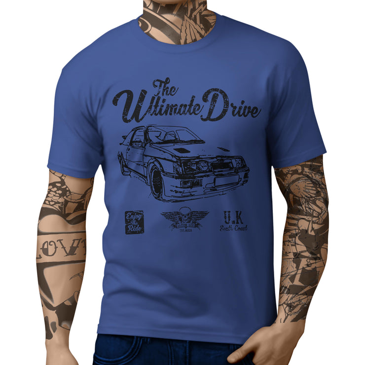 JL Ultimate Illustration For A Ford Sierra Cosworth RS500 Motorcar Fan T-shirt
