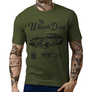 JL Ultimate Illustration For A Jaguar E-Type Coupe Motorcar Fan T-shirt
