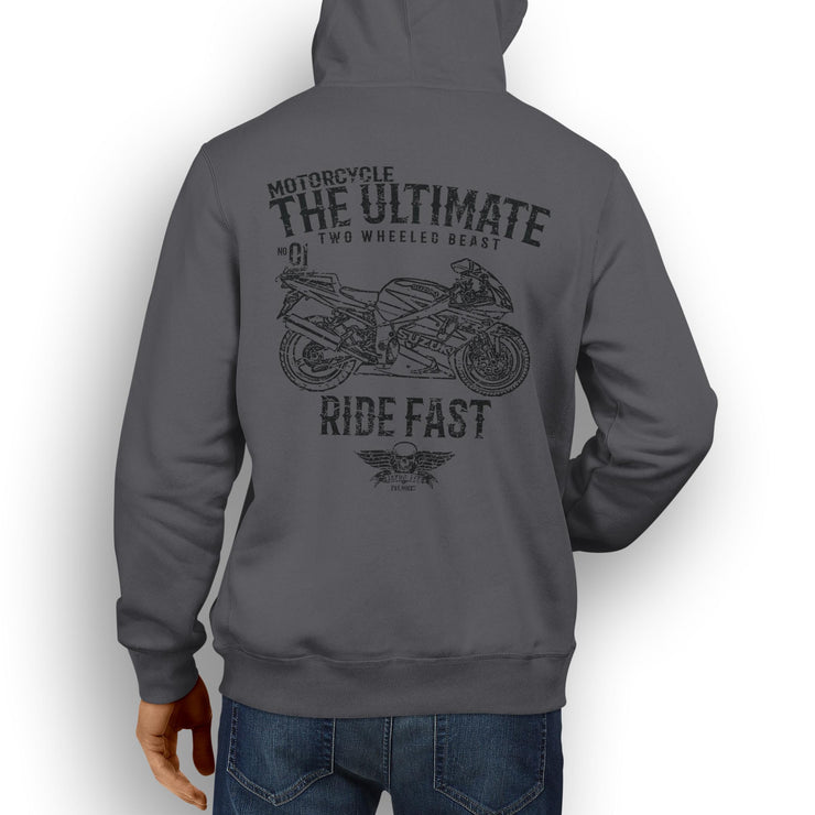 JL Ultimate Illustration For A Suzuki GSXR 750 2003 Motorbike Fan Hoodie