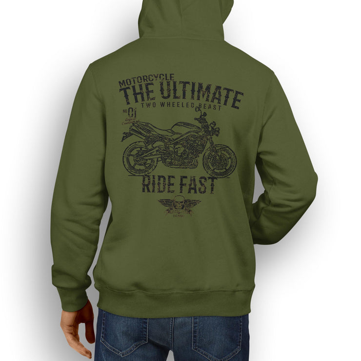 JL Ultimate Illustration For A Triumph Street Triple R 2011 Motorbike Fan Hoodie