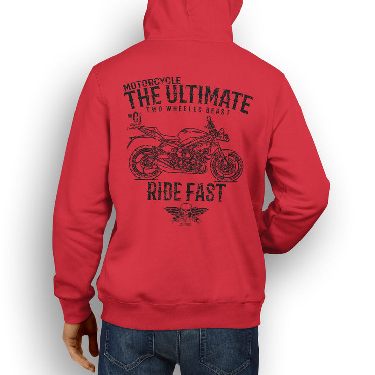 JL Ultimate Illustration For A Triumph Street Triple R 2016 Motorbike Fan Hoodie
