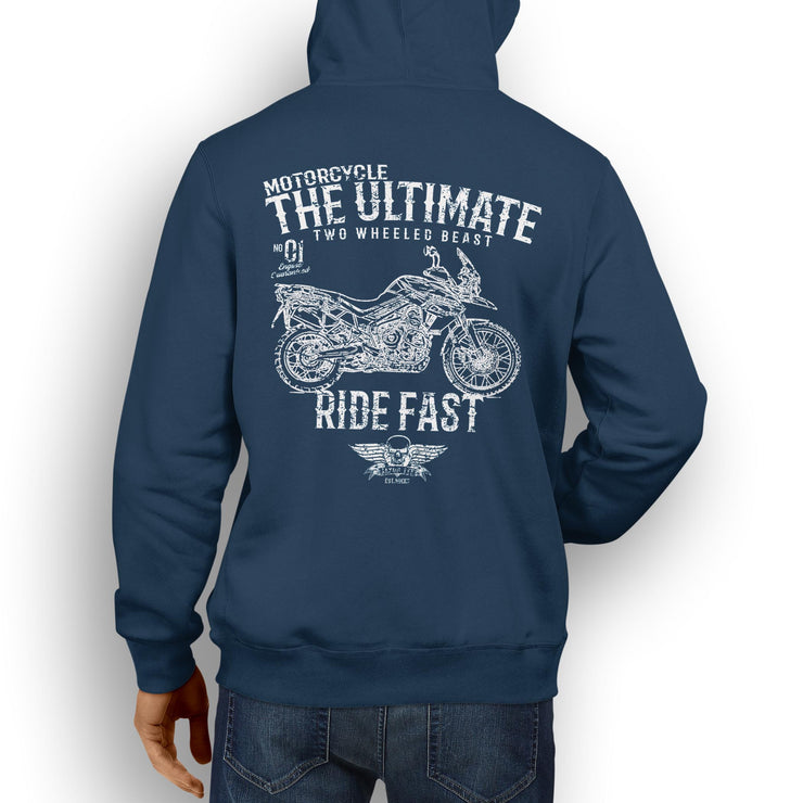 JL Ultimate Illustration For A Triumph Tiger 800 XCA Motorbike Fan Hoodie