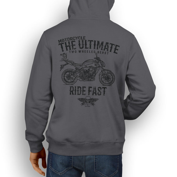 JL Ultimate Illustration For A Yamaha MT07 Motorbike Fan Hoodie