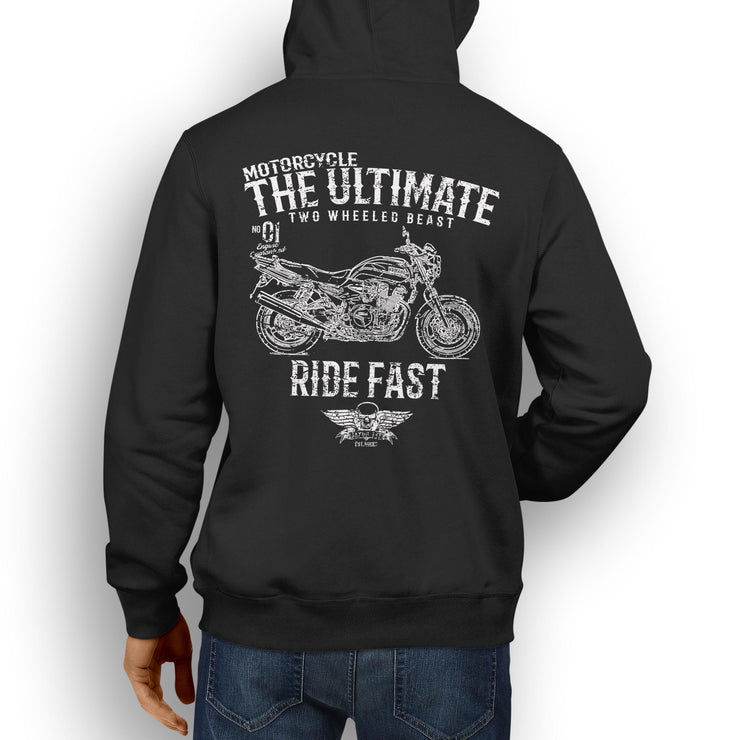 JL Ultimate Illustration For A Yamaha XJR1300 Motorbike Fan Hoodie