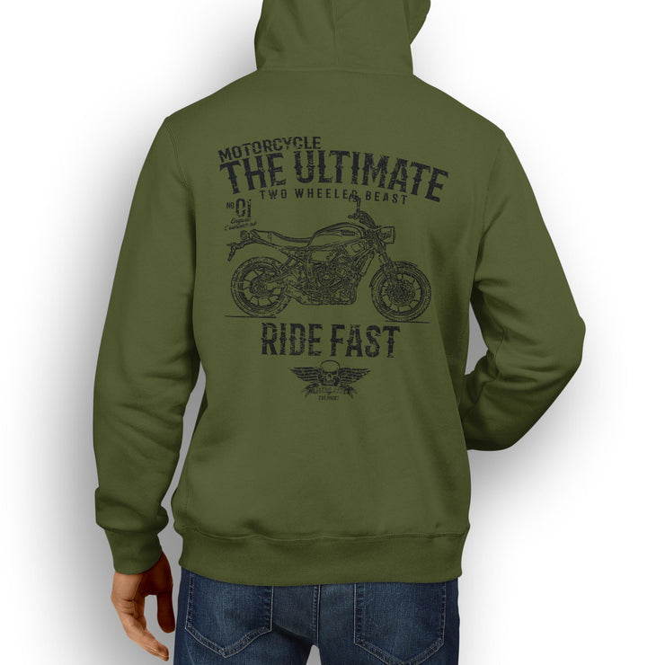 JL Ultimate Illustration For A Yamaha XSR700 Motorbike Fan Hoodie