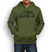 JL illustration for a Volkswagen Beetle 2012 Motorcar fan Hoodie