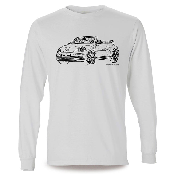 JL illustration for a Volkswagen Beetle Cabriolet Motorcar fan LS-Tshirt