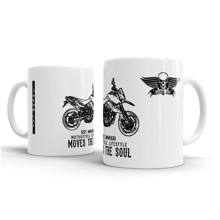 JL illustration for a KTM 990 Supermoto Motorbike fan – Gift Mug