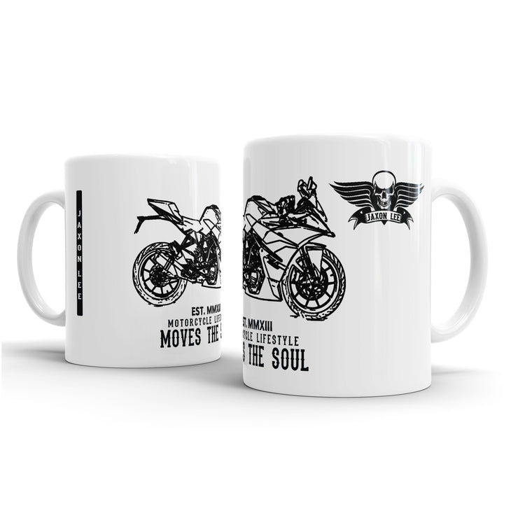 JL illustration for a KTM RC390 Motorbike fan – Gift Mug