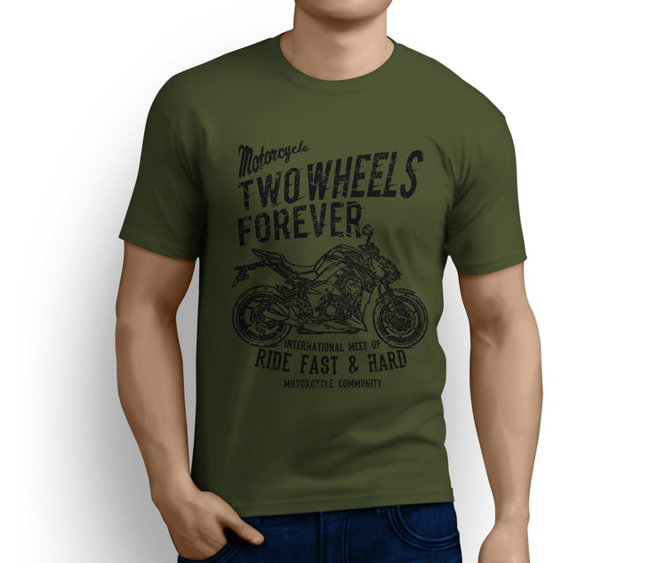 RH Illustration For A Kawasaki Z1000 2017 Motorbike Fan T-shirt - Jaxon lee