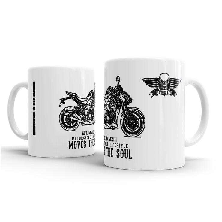 JL Illustration For A Kawasaki Z1000 Motorbike Fan – Gift Mug