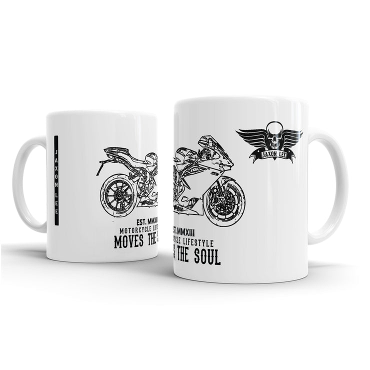 JL Illustration For A MV Agusta F4 Motorbike Fan – Gift Mug