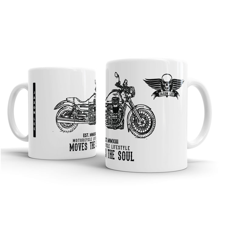 JL Illustration For A Moto Guzzi California 1400 Custom Motorbike Fan – Gift Mug
