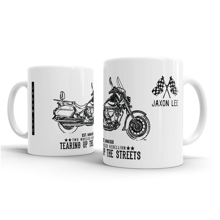 JL Illustration For A Hyosung ST7 Deluxe Motorbike Fan – Gift Mug