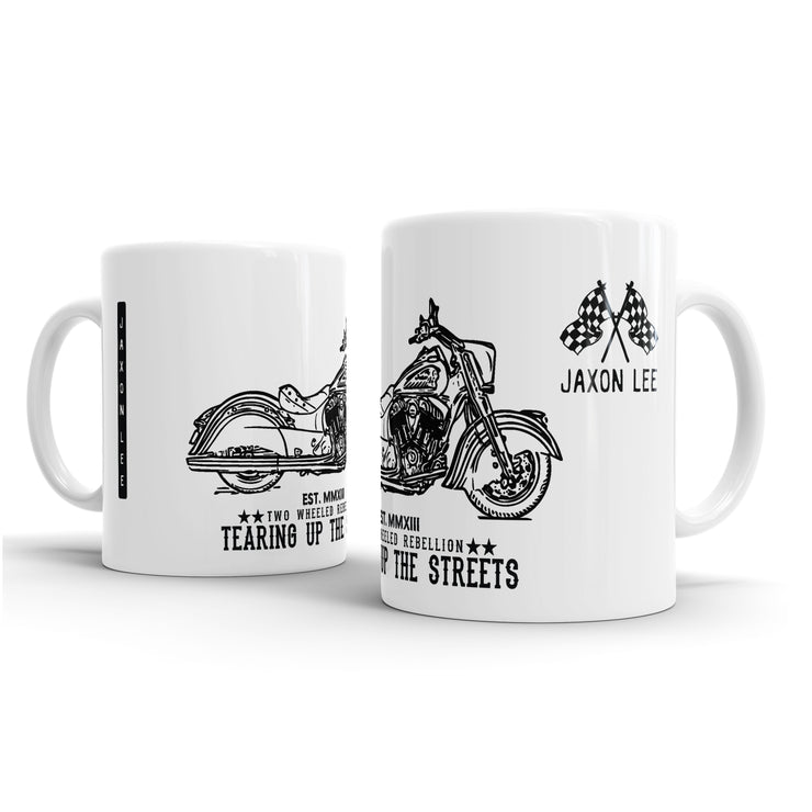 JL Illustration For A Indian Chief Dark Horse Motorbike Fan – Gift Mug