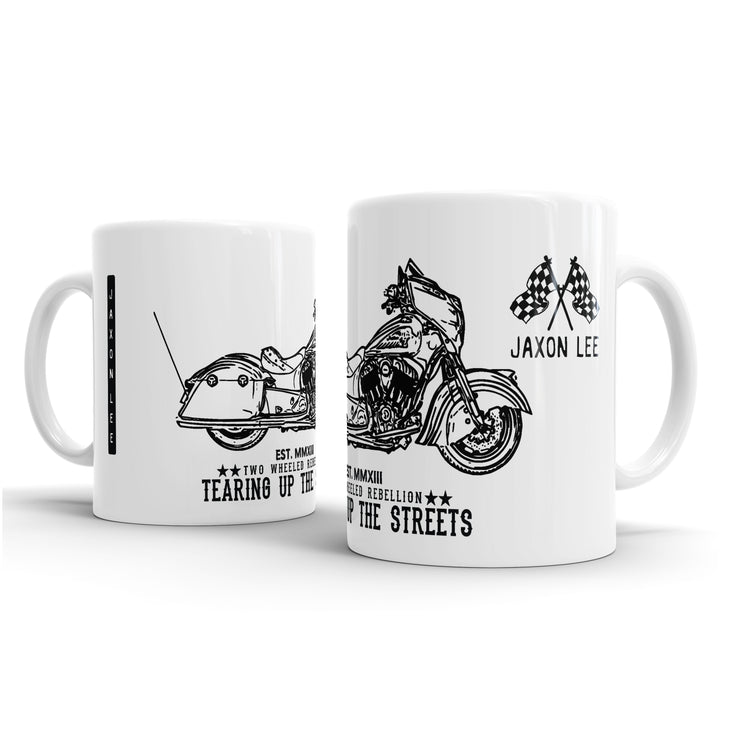 JL Illustration For A Indian Chieftain Dark Horse Motorbike Fan – Gift Mug
